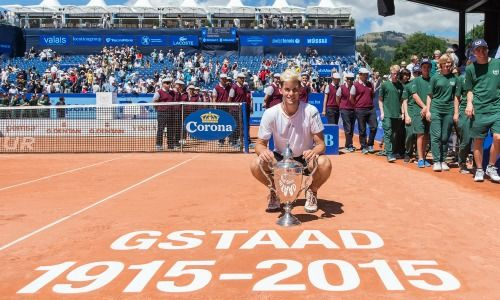 Dominic Thiem, Sieger 2015 an den Swiss Open in Gstaad