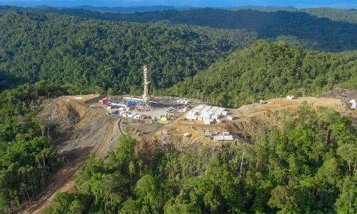 Perforazione del gas in Papua Nuova Guinea