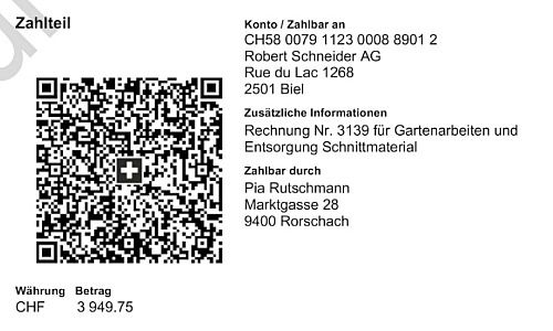 New payment slip, pattern
