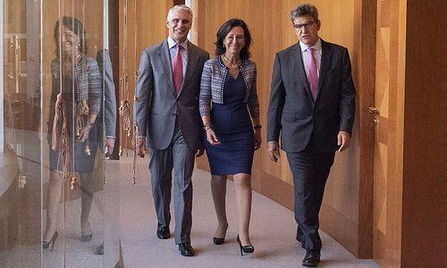 Andrea Orcel, Ana Botin, Jose Antonio Alvarez