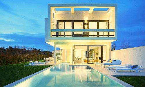 besonders f r schweizer eine villa auf dem golfplatz. Black Bedroom Furniture Sets. Home Design Ideas